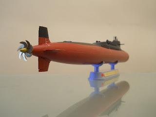 maqueta de submarino chino nuclear de misiles balísticos tipo 092 xia