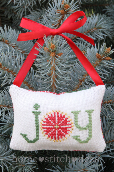 Joy Pohutukawa Flower New Zealand Free Cross Stitch Ornament