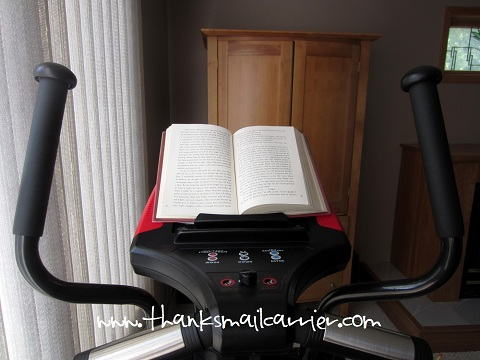 elliptical machine book holder