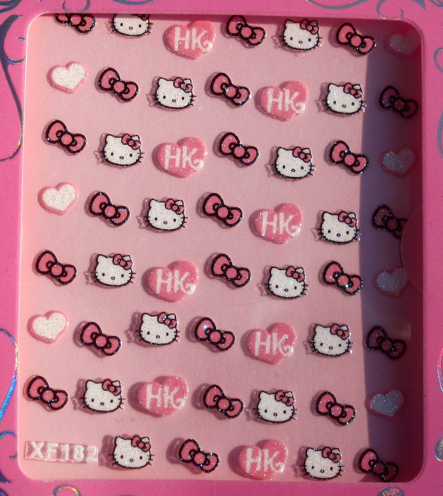 Painted Lady Fingers Born Pretty Store Hello Kitty Nail Art Decal