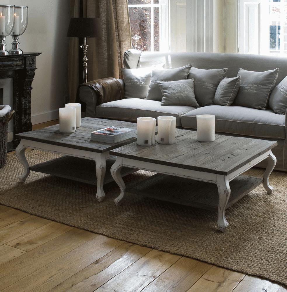 Riviera Maison Stijl Keuken : Grey Driftwood Coffee Table