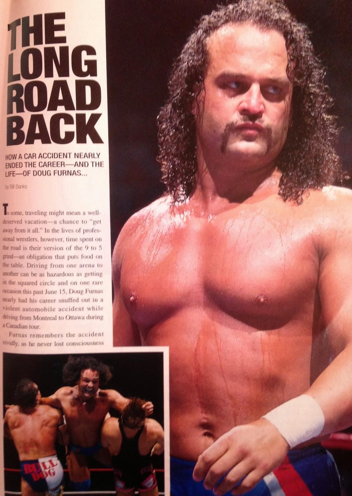 WWE: WWF RAW MAGAZINE - January 1998 - A report on the car crash that nearly killed Doug Furnas