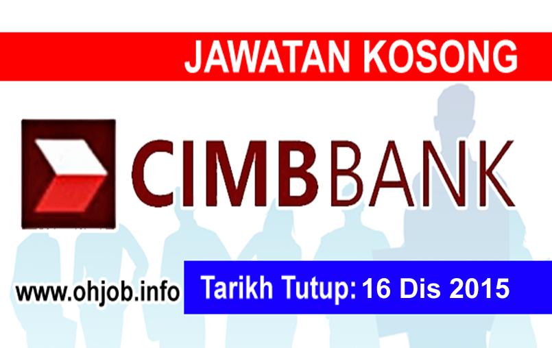 Jawatan Kerja Kosong CIMB Group logo www.ohjob.info disember 2015