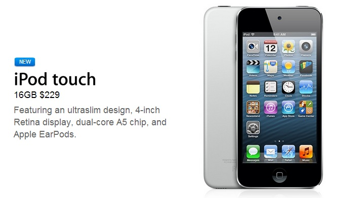 Apple Introduces a New iPod touch: 4 inch Retina Display for $229