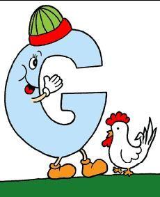 alfabeto colorido letra g