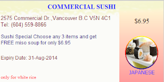 Commercial Sushi Coupon