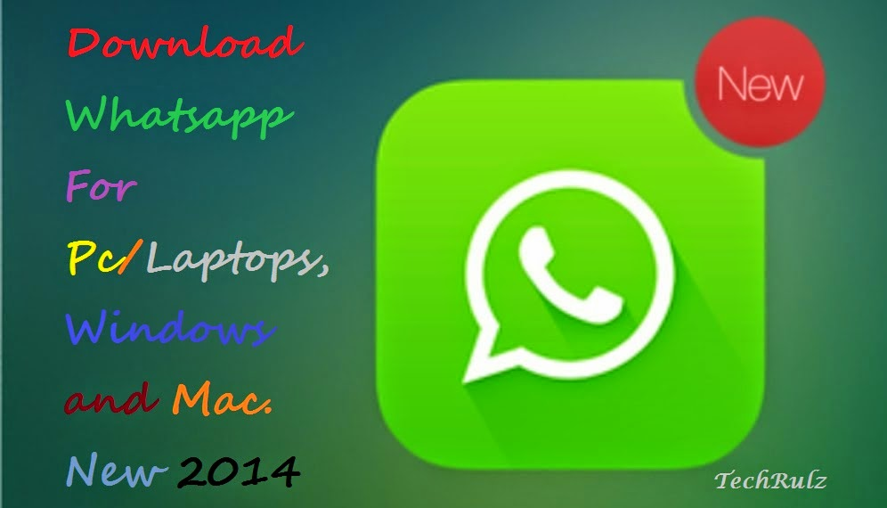 download whatsapp for pc windows 7/mac