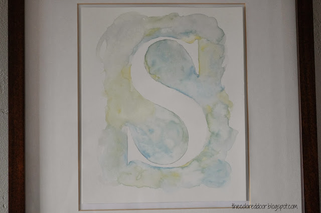 watercolor letter
