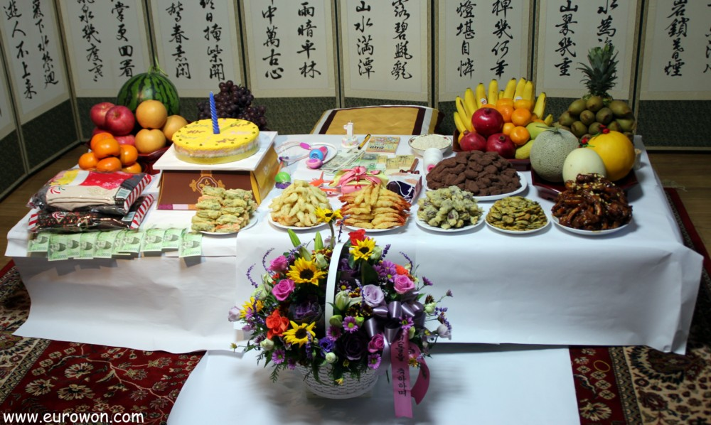 Doljanchi celebraci n del primer cumplea os en corea - Comidas para cumpleanos en casa ...
