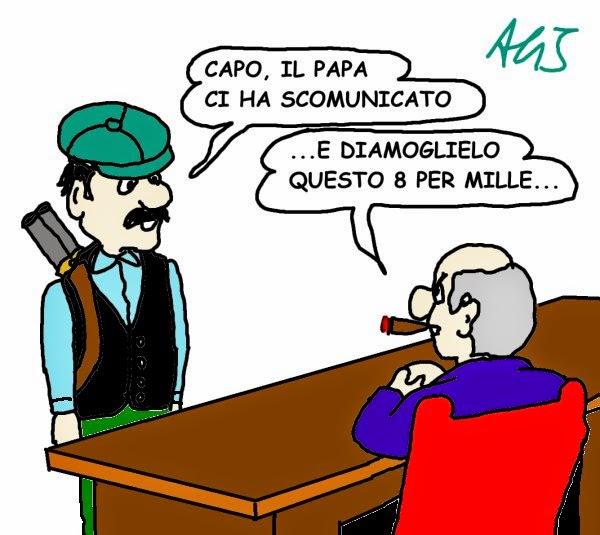 vignetta papa, mafia