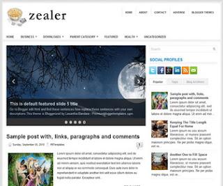Zealer Blogger Template