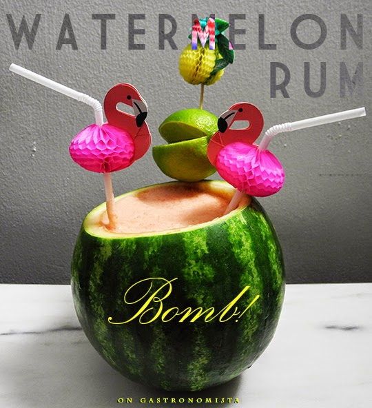 Gastronomista Watermelon Rum Bomb Cocktail