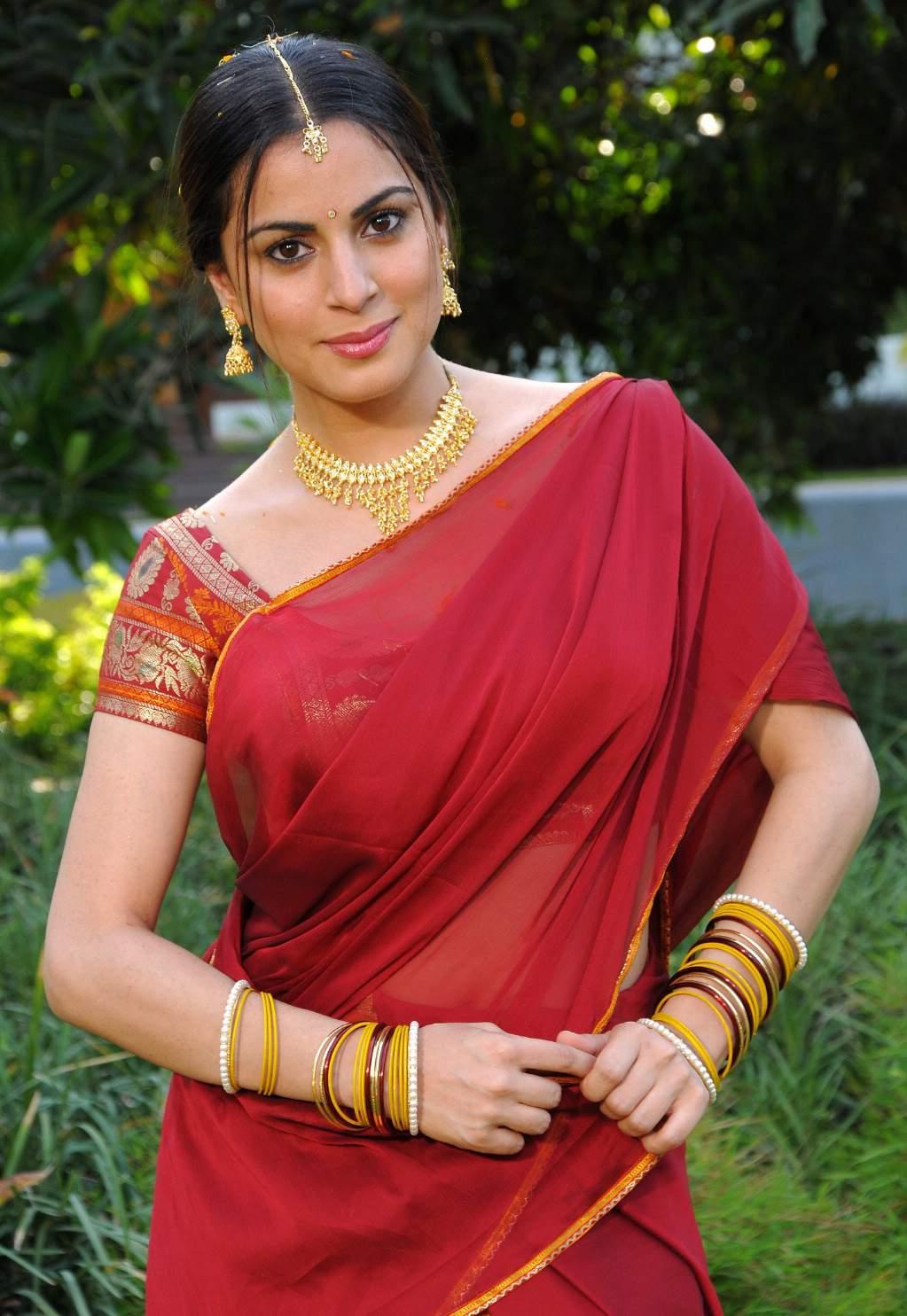 Telugu Actress Kausha Pics In Saree - Navel Queens