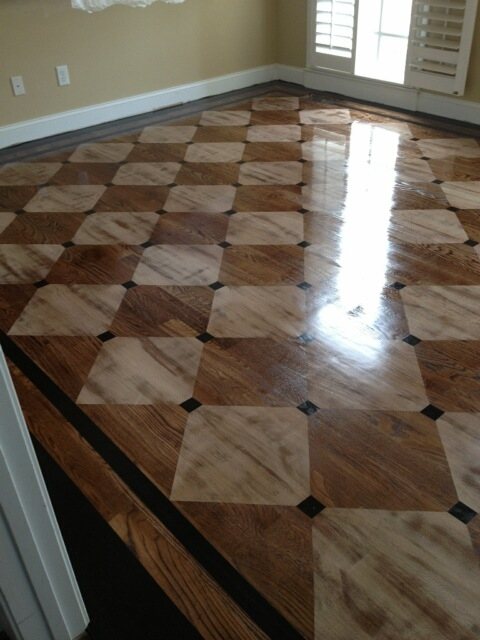 Country Flooring Direct Stencil Painted Hardwood Floor