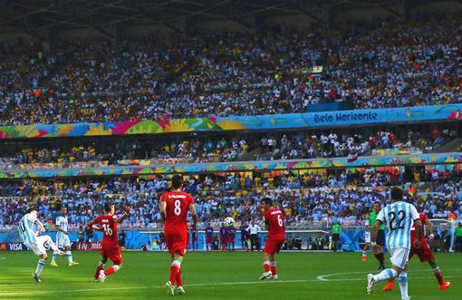 Gol cantik Lionel Messi
