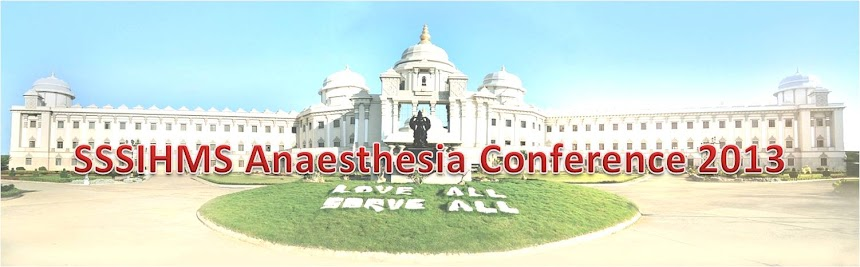 SSSIHMS Anaesthesiology Conference 2013