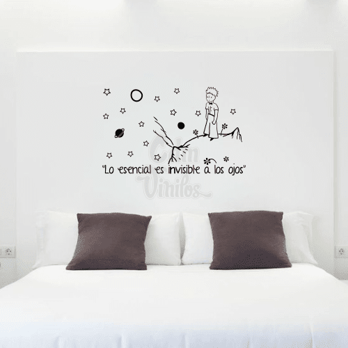 Vinilo decorativo principito con frase w307 cdm vinilos - Vinilos para pared de dormitorio ...
