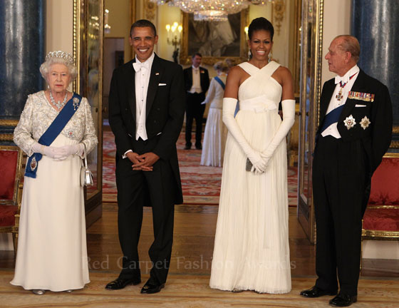 Style Shutdown: Michelle Obama At Buckingham Palace State Dinner
