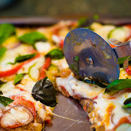 Roasted Vegetable and Cottage Cheese Pizza