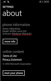 Trik Cara Mengetahui Versi Windows Phone