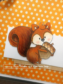 AJVD, Whimsie Doodles, Kecia Waters, Copic markers, squirrel