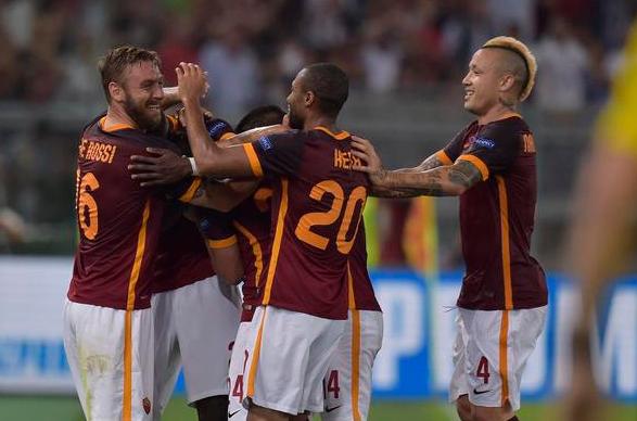 HT: AS Roma 1-1 Barcelona Champions League