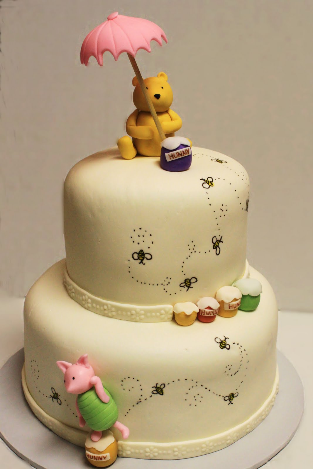 layers of love winnie the pooh shower cake