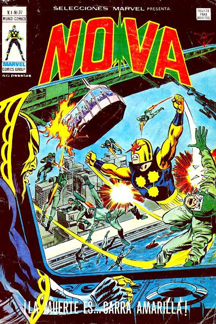 Portada de Nova-Selecciones Marvel Volumen 1 Nº 37 Ediciones Vértice