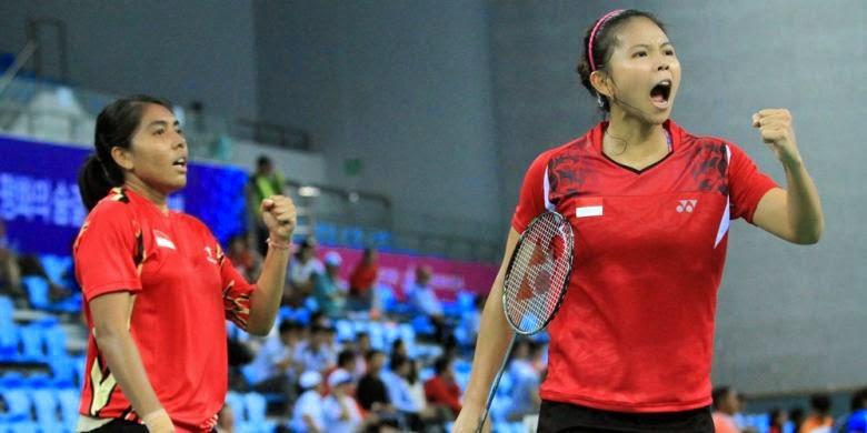 Hasil Asian Games ganda putri bulu tangkis Greysia dan Nitya Menangkan emas pertama  untuk indonesia