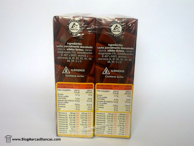 Batido de chocolate HACENDADO el blog de las marcas blancas