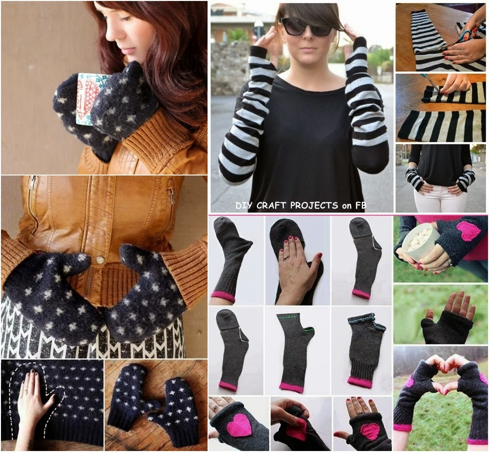 Fingerless gloves diy - Fingerless Gloves Diy Diy Fabulous Mittens And Gloves Using Old Sweaters And Socks Diy