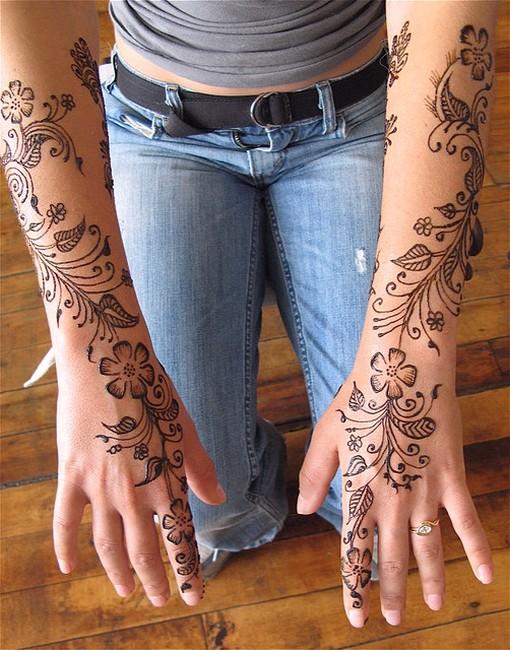 Tattoo Type Mehndi : Different types of mehndi designs desings