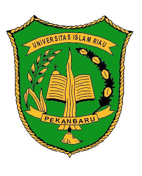Lambang / Logo Universitas Islam Riau (Hitam Putih) :