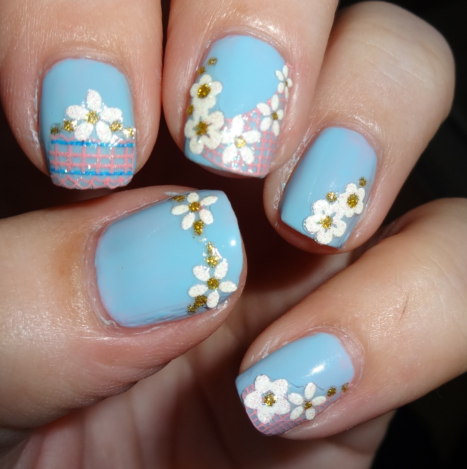 Flower Nails: Wendy's Delights: Born Pretty Flower Reseau Easy Fast