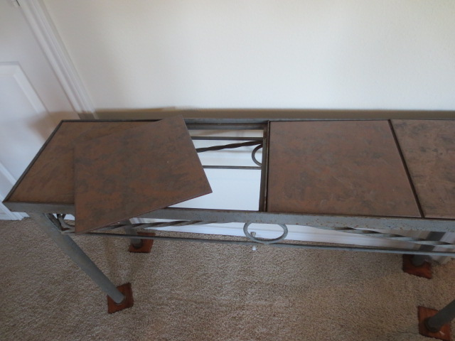 2013 moving sale eden prairie metal and tile table set for 12x12 table