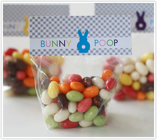 Bunny Poop Printable Bag Toppers | Paper & Party Love