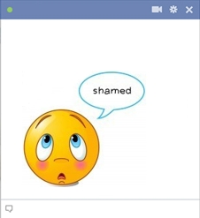 Shamed smiley big emoticon code