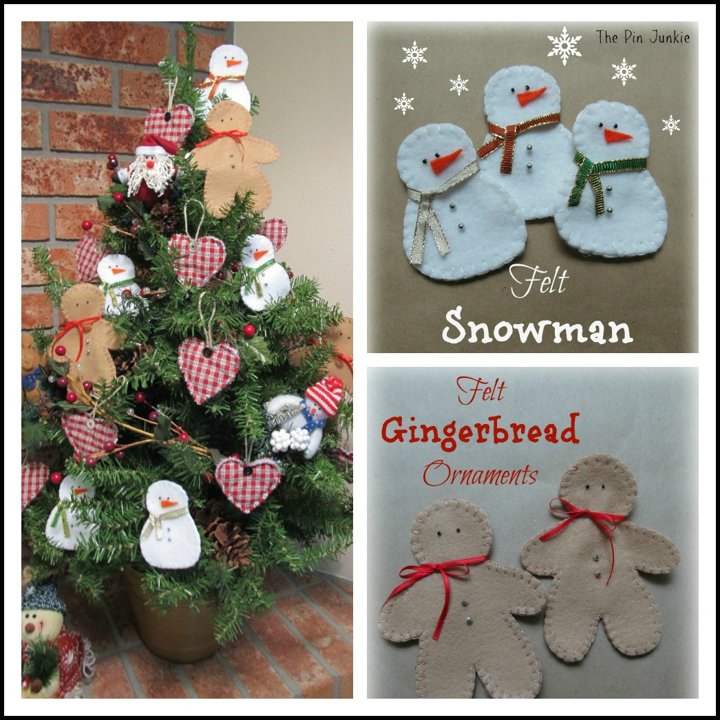 Christmas felt ornaments - Felt Christmas Ornaments