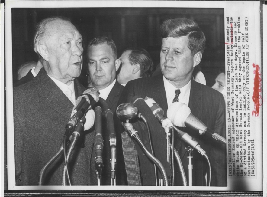 JFK AND CONRAD ADENAEUR (ASAIC Floyd Boring in between)