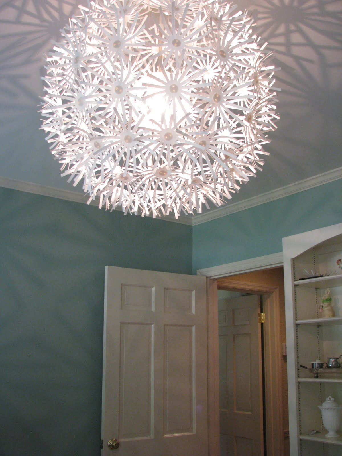 Flair for home design a nursery in two days seven easy steps for Nursery ceiling light fixture