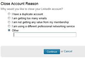Rimuovere Linkedin
