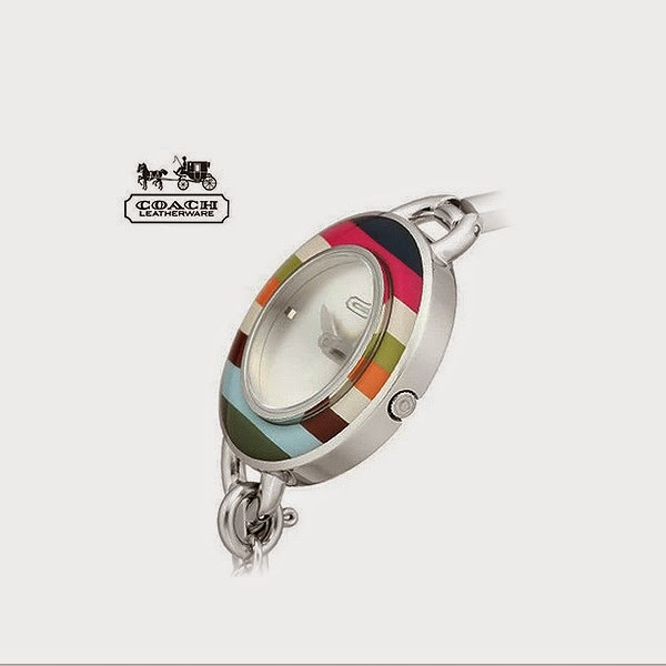 Coach 14501302 Phoebe Charm Multi Color Legacy Stripe Ladies Watch