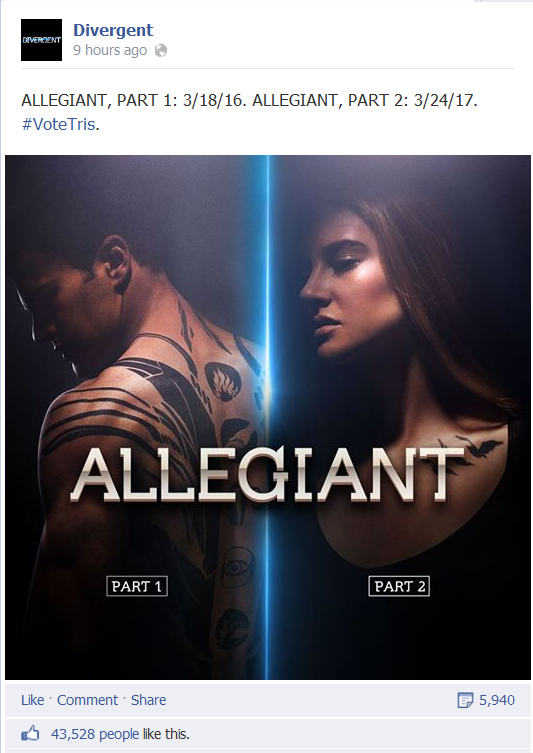 Allegiant FILMS (Yep, Plural) and Release Dates