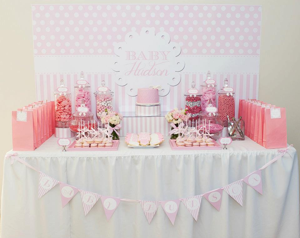 Little big company the blog pink and white baby shower - Fiesta baby shower nina ...