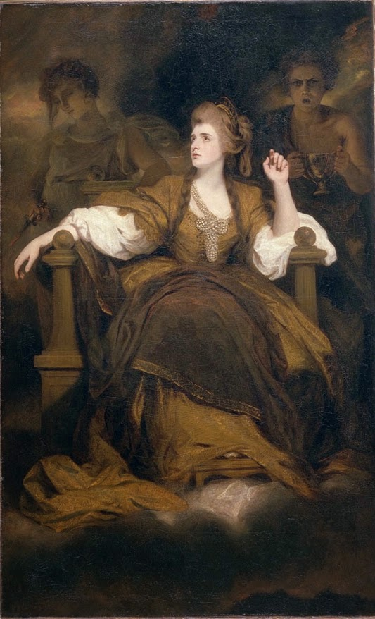 Mrs Siddons as the Tragic Muse by Joshua Reynolds, 1784