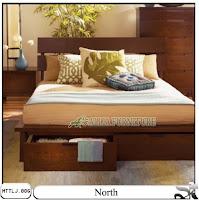 Tempat tidur minimalis laci north