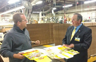 Chancellor James Schmidt and Scott Gunderson at Great Northern Corp.