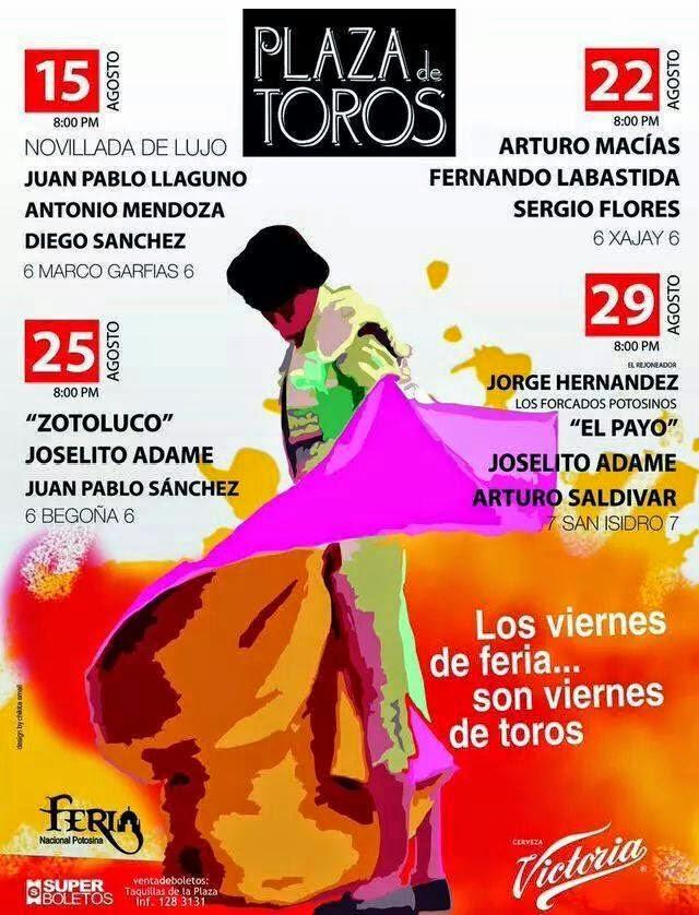 Cartel de toros Feria San Luis 2014