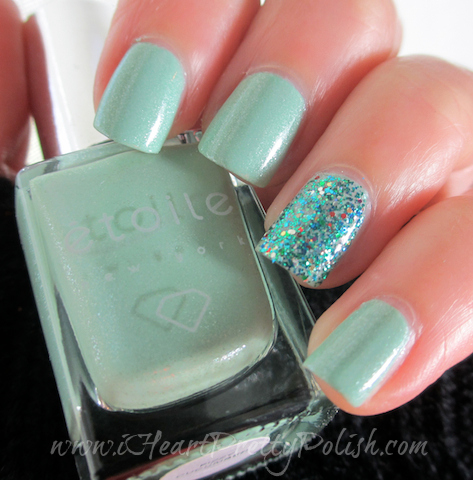 etoile fizzy cucumber shimmer polish linna