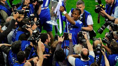 selebrasi Drogba juara Liga Champions